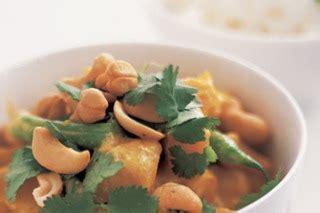 cuisine f騅rier yellow curry with pumpkin green beans and cashews recipe
