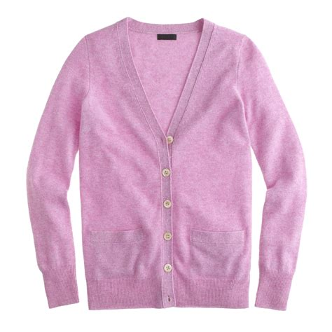 Boyfriend Purple lyst j crew collection boyfriend cardigan sweater in purple