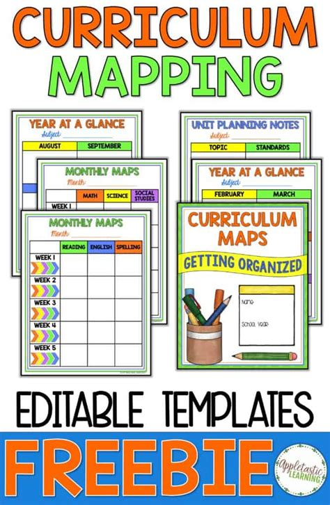 curriculum map template curriculum mapping grab a free editable template now