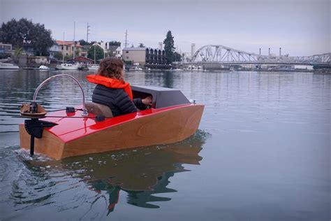 mini electric boat if ikea made powerboats yanko design
