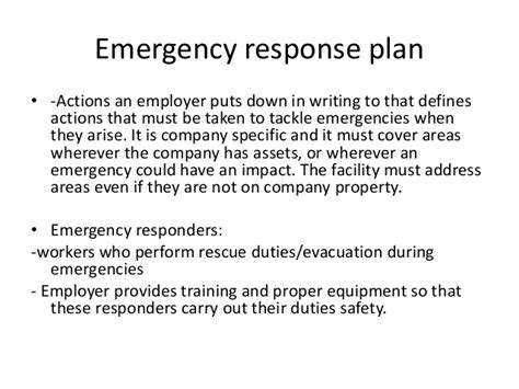 emergency response plan template for construction emergency planning
