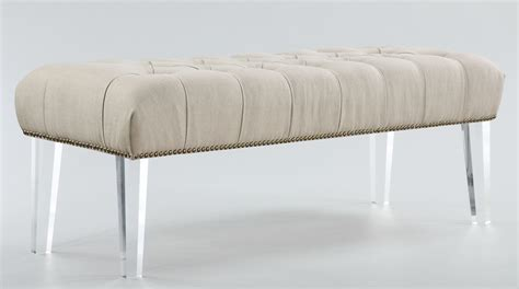 acrylic benches stella beige linen acrylic bench o18 tov