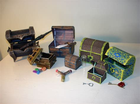 Treasure Chest Papercraft - treasure chests by sah24 on deviantart
