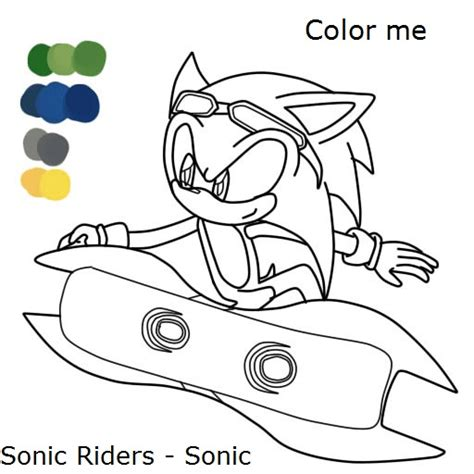 sonic riders free coloring pages