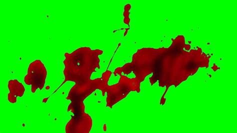 Exclamation Splatter blood splatter green screen hd