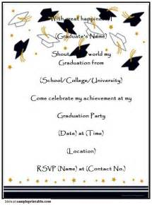 Graduation Invitation Templates Free Word by Graduation Invitation Printable