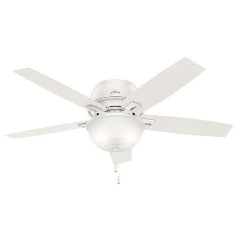 hunter 52 inch ceiling fan with light 52 inch hunter fan donegan low profile fresh white led
