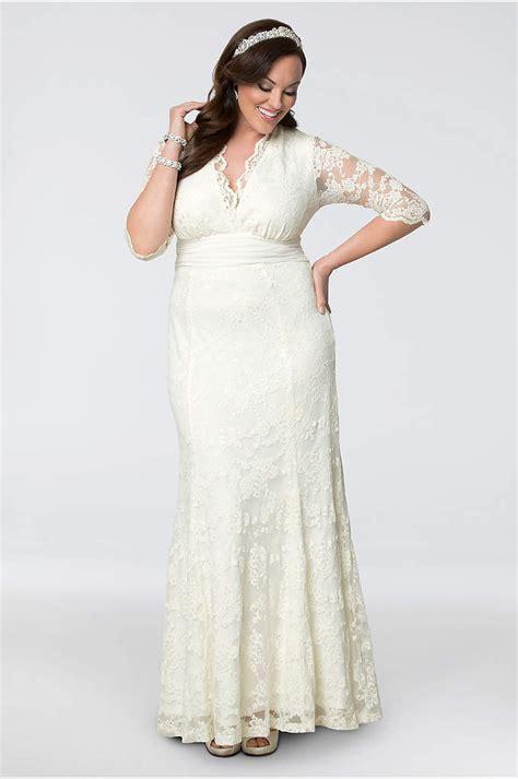 Set 2in1 Longdress plus size wedding dresses with sleeves david s bridal