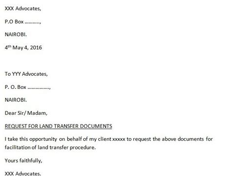 Transfer Letter On Spouse Ground In Banks Eregulations Kenya