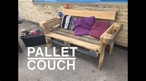 nice  easy upcycle pallet couch youtube