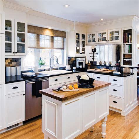 cuisine et comptoir cuisine chic et classique en noir et blanc u ua