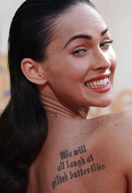 megan fox tattoo removed megan fox s tattoos won t be there much longer