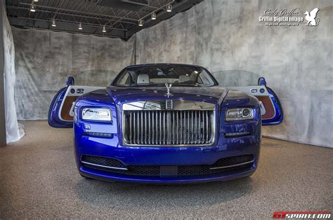 rolls royce blue blue rolls royce wraith at herb chambers in boston gtspirit