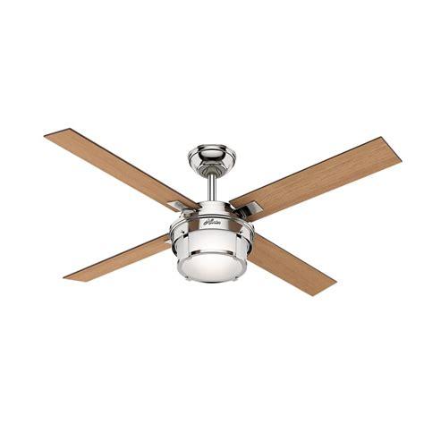 hunter ronan ceiling fan hunter ronan 52 in led indoor matte black ceiling fan