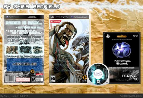 theme solid psp metal gear solid rising psp box art cover by chris redfield
