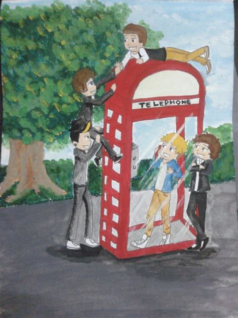 one direction painting mini one direction painting by 1sthunterofartemis on