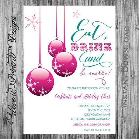 holiday invitation diy template eat drink