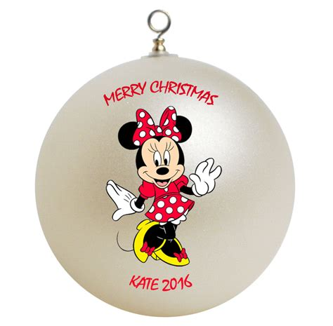 personalized minnie mouse christmas ornament gift add