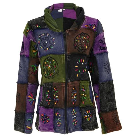 Patchwork Coats - patchwork stonewashed hooded jacket the hunger site