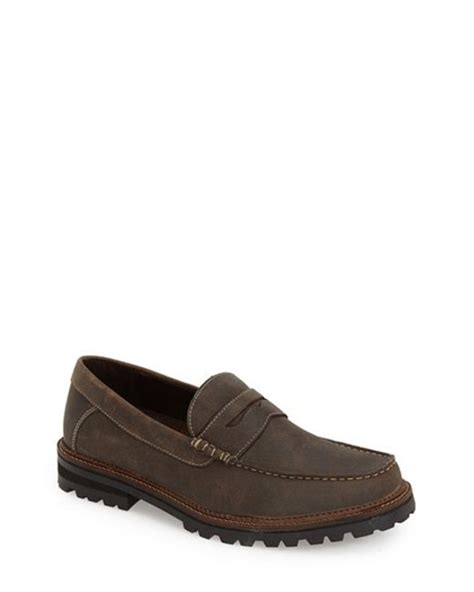 dr scholls mens loafers dr scholls ronald loafer in brown for syrup