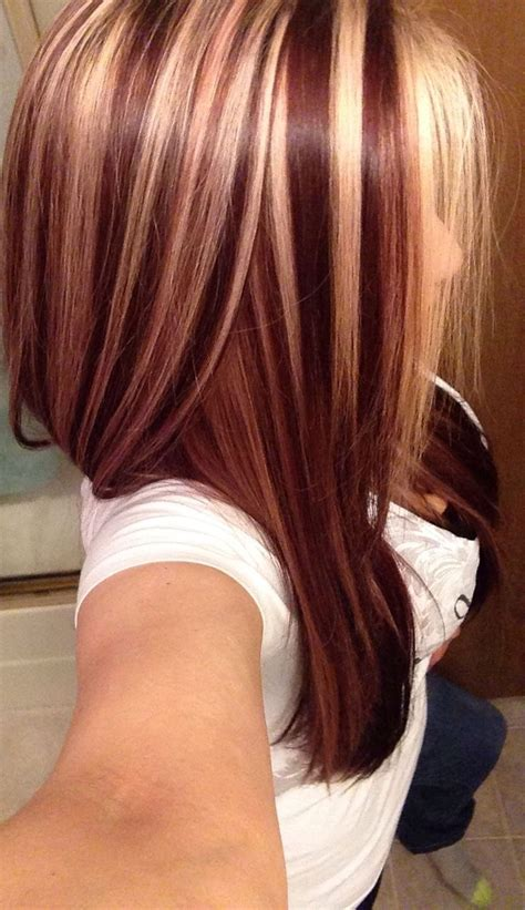 brown hair red tint blode highlights blonde red brown hair color with highlights hairstyles