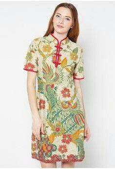 Rianty Olinda Batik Dress Brown batik dress cheongsam style batik fashion