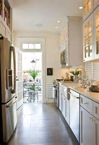 White Galley Kitchen   Transitional   kitchen   Benjamin