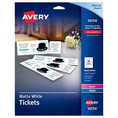 avery event ticket template gallery of avery raffle or event tickets with numbered