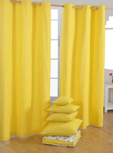 Yellow Black Out Curtains Yellow Ready Made Curtains Modern Curtains Other Metro By Homescapes Europa Ltd