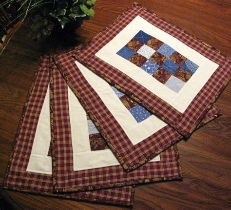 Quilted Placemats For Tables by Quilted Placemats Table Topper Mug Rugs Table By