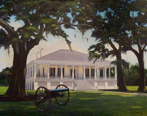 jefferson davis home painting by landry
