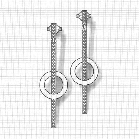 Circle Dangle Earring circle dangle earrings jewelry designs