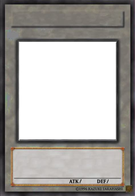Blank Yugioh Card Template by Synchro Card Base 1 By Iggwilv On Deviantart