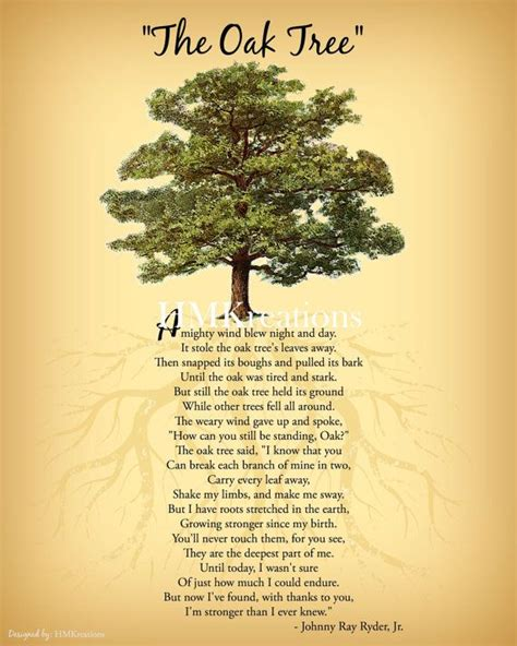 tree quotes oak tree poem encouraging tree poem quote nature wall