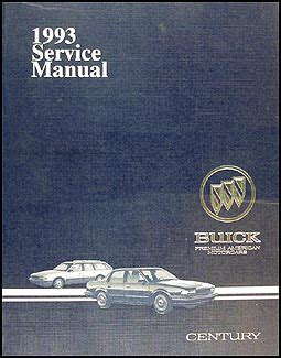 auto repair manual online 1993 buick century on board diagnostic system 1993 buick century repair manual 93 custom special ebay