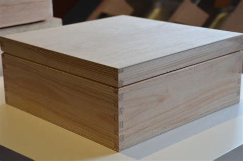 large unfinished wooden box  natural