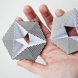 Of Paper Cutting And Folding - kaleidocycle folding paper print and cut and fold