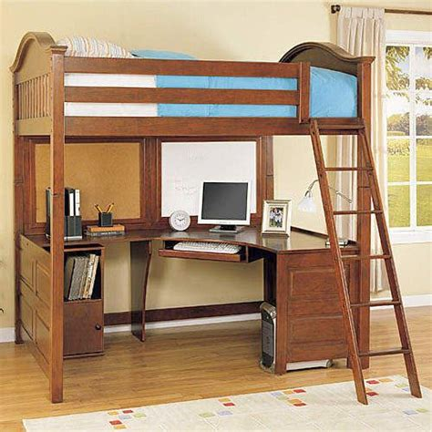 bunk bed with computer desk size loft bed with desk on bedroom