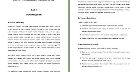 format makalah kewirausahaan contoh pendahuluan makalah lengkap yang baik dan benar