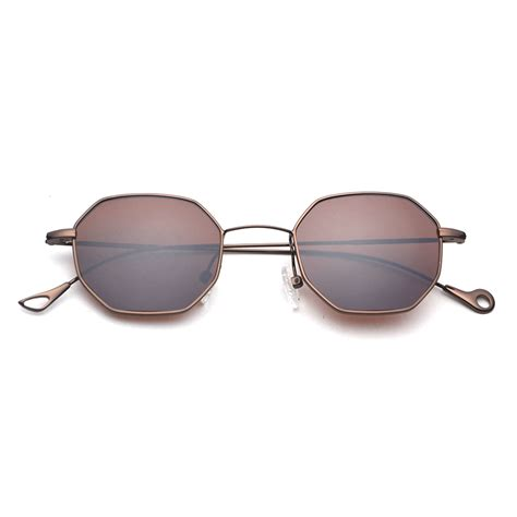 blue yellow tinted sunglasses small frame polygon