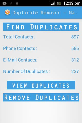duplicate contacts android duplicate contacts organizer apk for android aptoide
