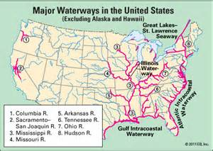 waters of the us map california waterway major waterways in the united states students
