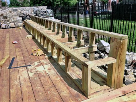 building deck benches simple deck bench brackets the latest home decor ideas