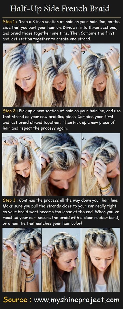 how to i french plait my own side hair how to do a 15 braided bangs tutorials cute easy hairstyles pretty