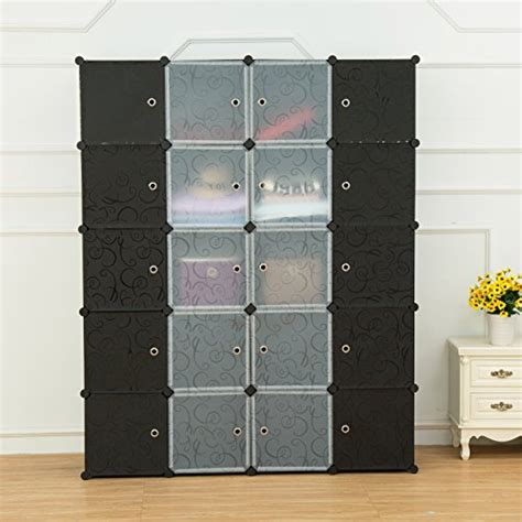 plastic armoire wardrobe unicoo multi use diy plastic 20 cube organizer bookcase