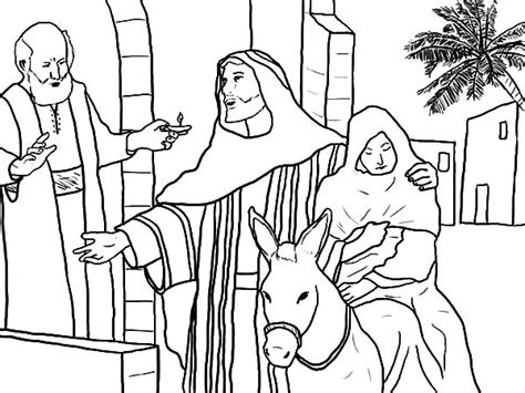 christmas mary and joseph coloring sheets coloring pages