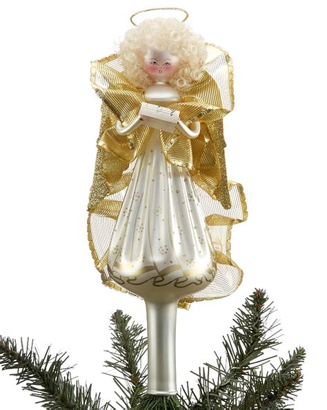 gold angel tree topper christmas ornament angels
