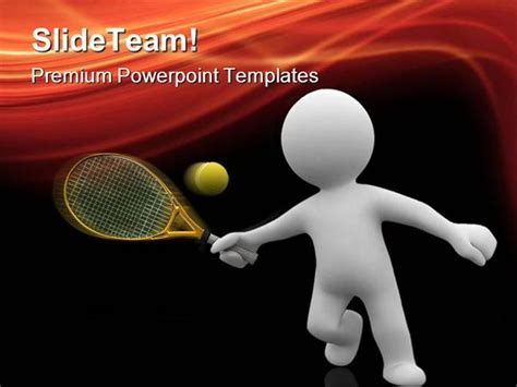 Tennis Sports Powerpoint Templates And Powerpoint Backgrounds Ppt Authorstream Tennis Powerpoint Template