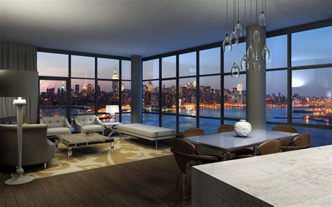 view interior of homes interior design apartment with city view desktop wallpaper