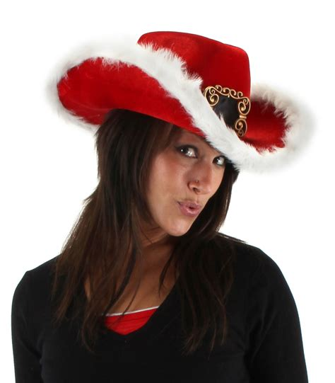 santa cowboy hat santa claus white costume country